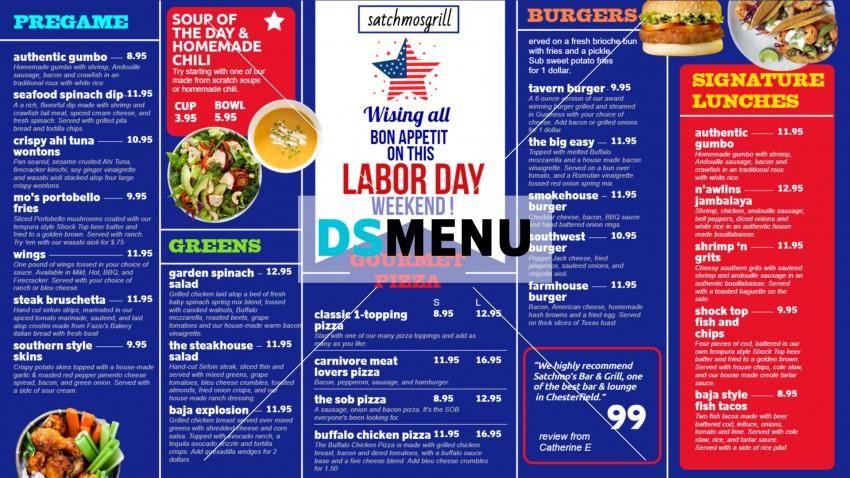Lunch Digitalsignage Menu Board Design For American Labor Day Menu Board Design Digital Menu Boards Menu