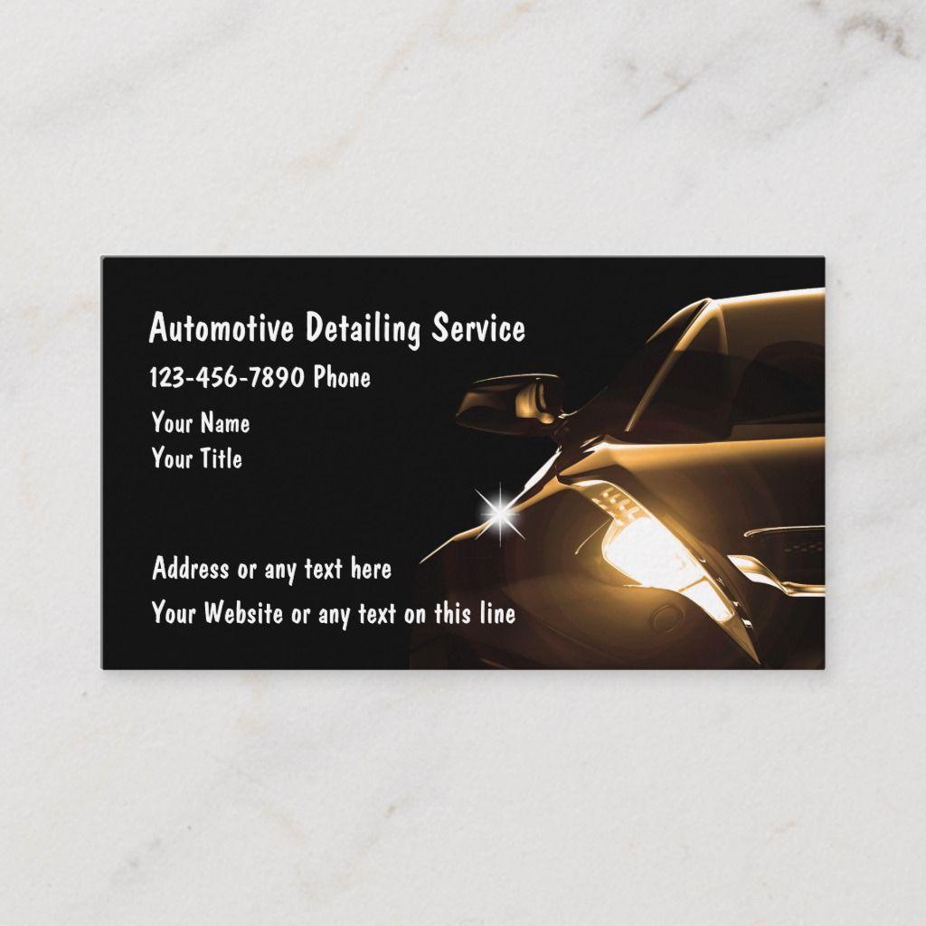 Cool Automotive Detailing Business Cards Automotive