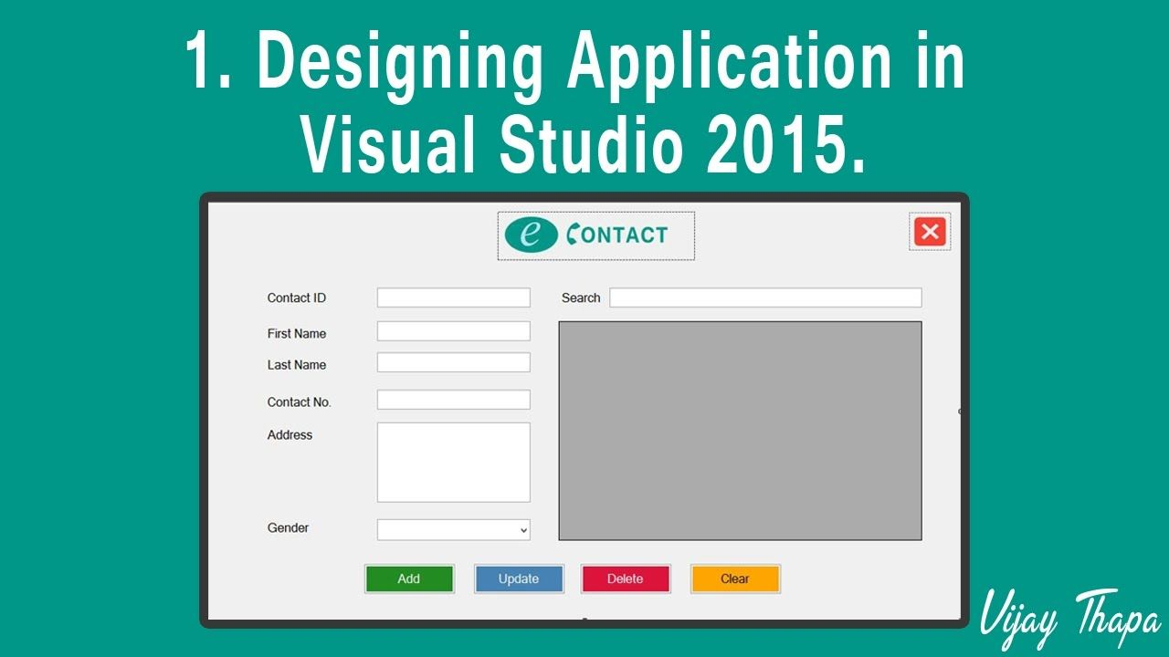 1 How To Create Simple C Desktop Application Designing The