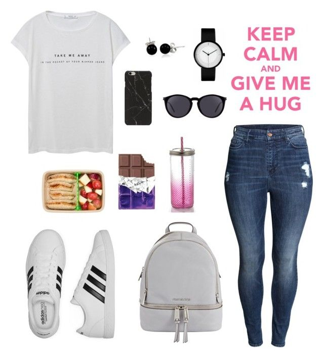 """Sin título #345"" by karlamichell on Polyvore featuring moda, MANGO, H&M, adidas, MICHAEL Michael Kors, Yves Saint Laurent y Bling Jewelry"