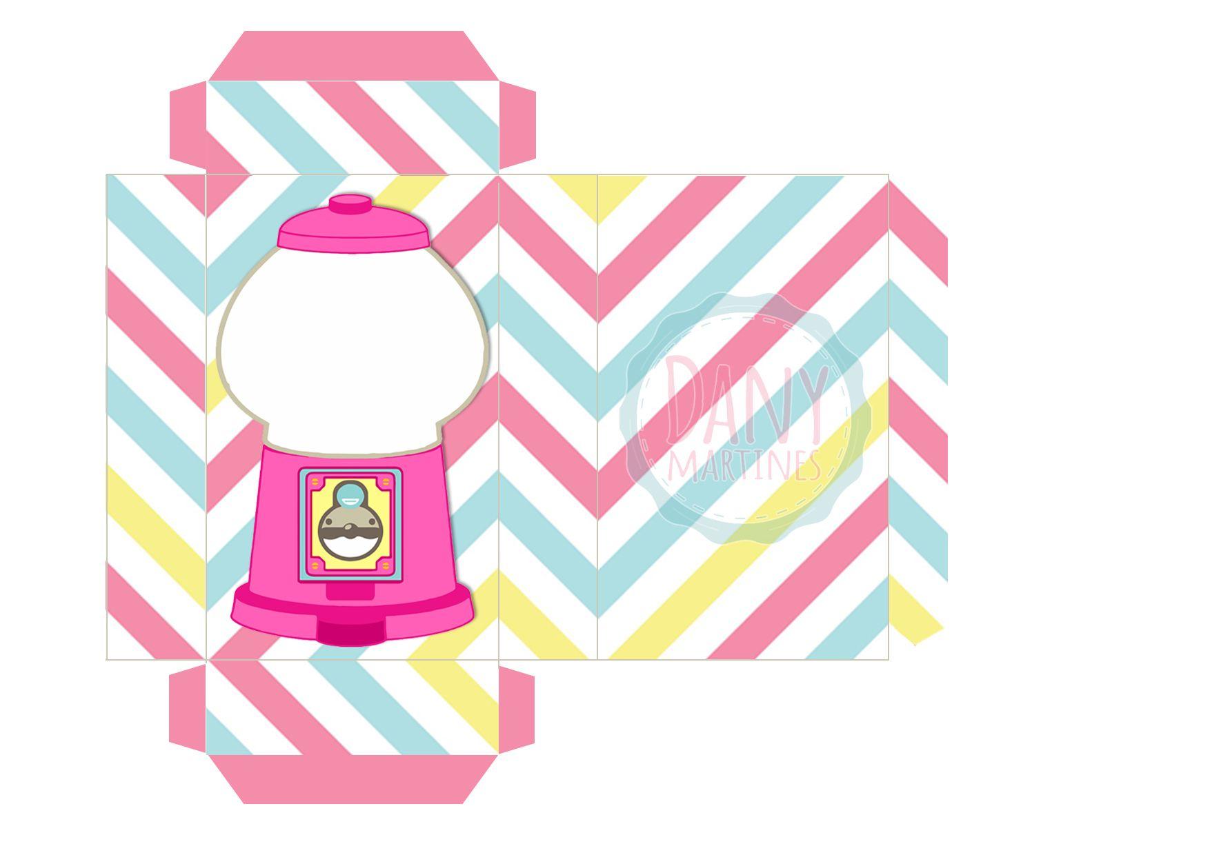 b595b25e9 Molde caixinha candy machine para colocar confetes dentro
