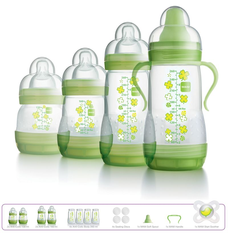 MAM Feed /& Soothe Set Includes 4 x Baby Bottles 2 x Soother Cream Coloured
