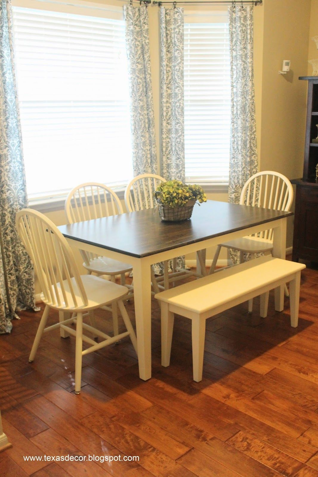 texas decor painted and stained kitchen table a tutorial