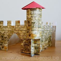 Easy crafts with kids: How to make a castle