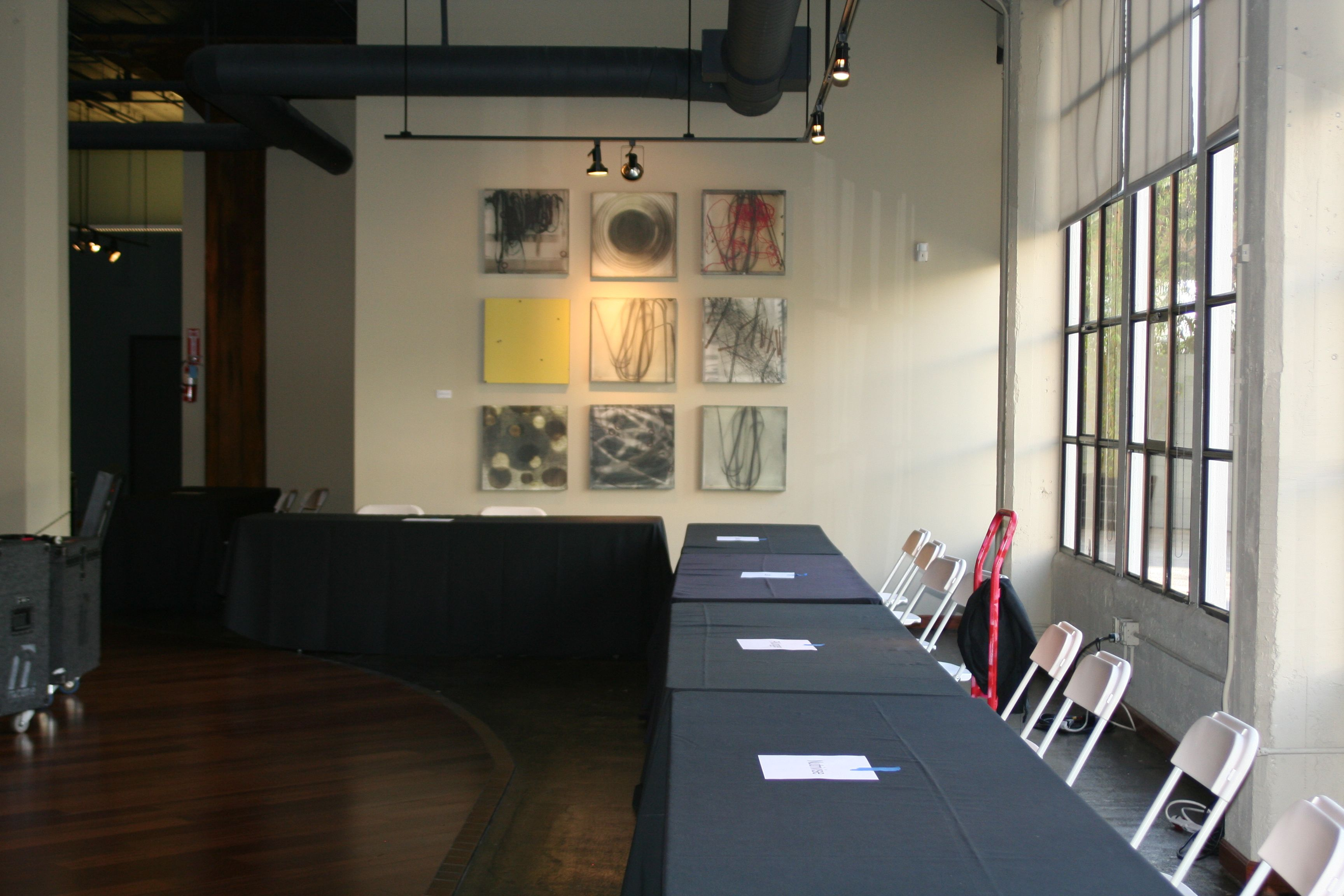 Terra Gallery is ready for exhibitors to arrive. Photo by Cheryl Greene.