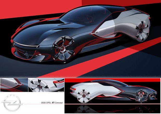 © Gary Guo | OPEL XT Concept | CarDesignPro on Patreon