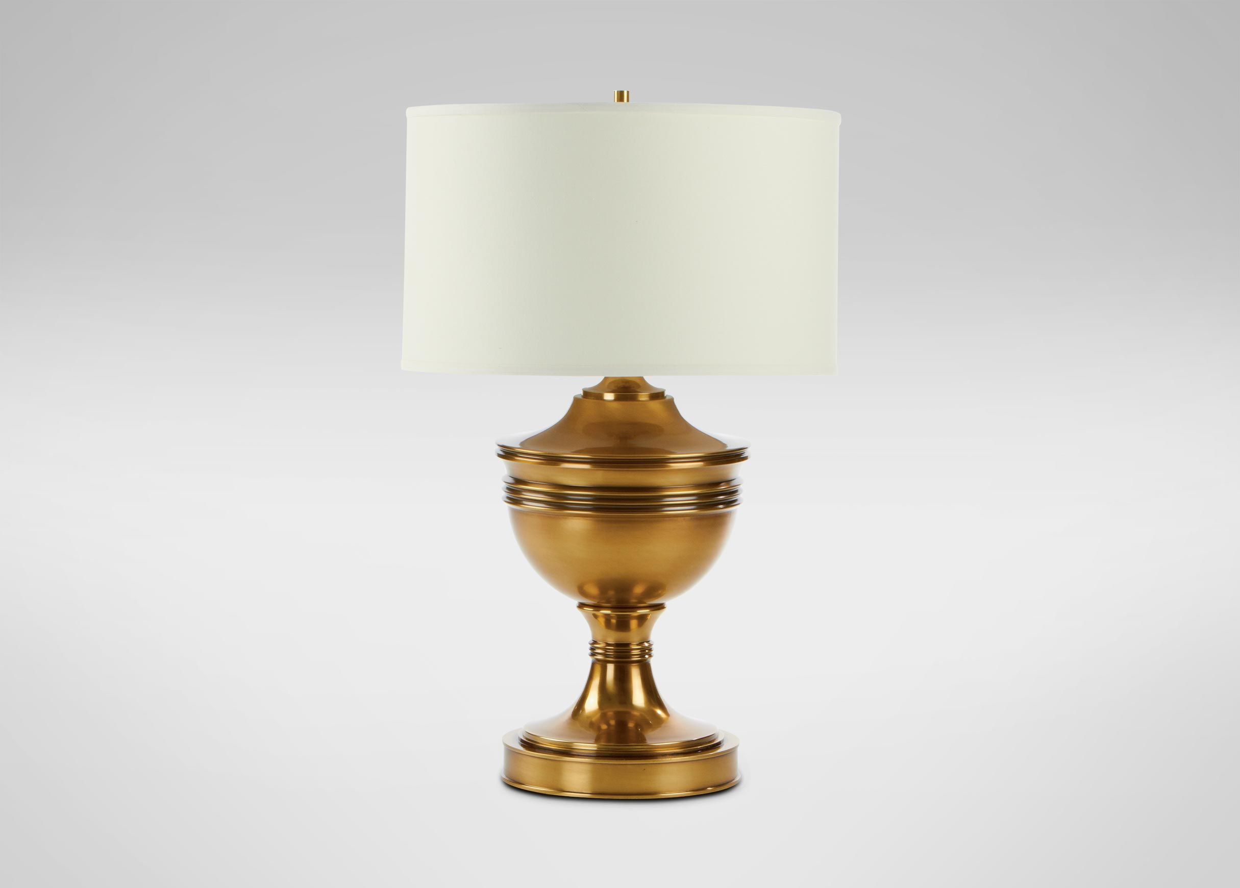 Otis Large Brass Table Lamp Ethan Allen Table Lamps Brass