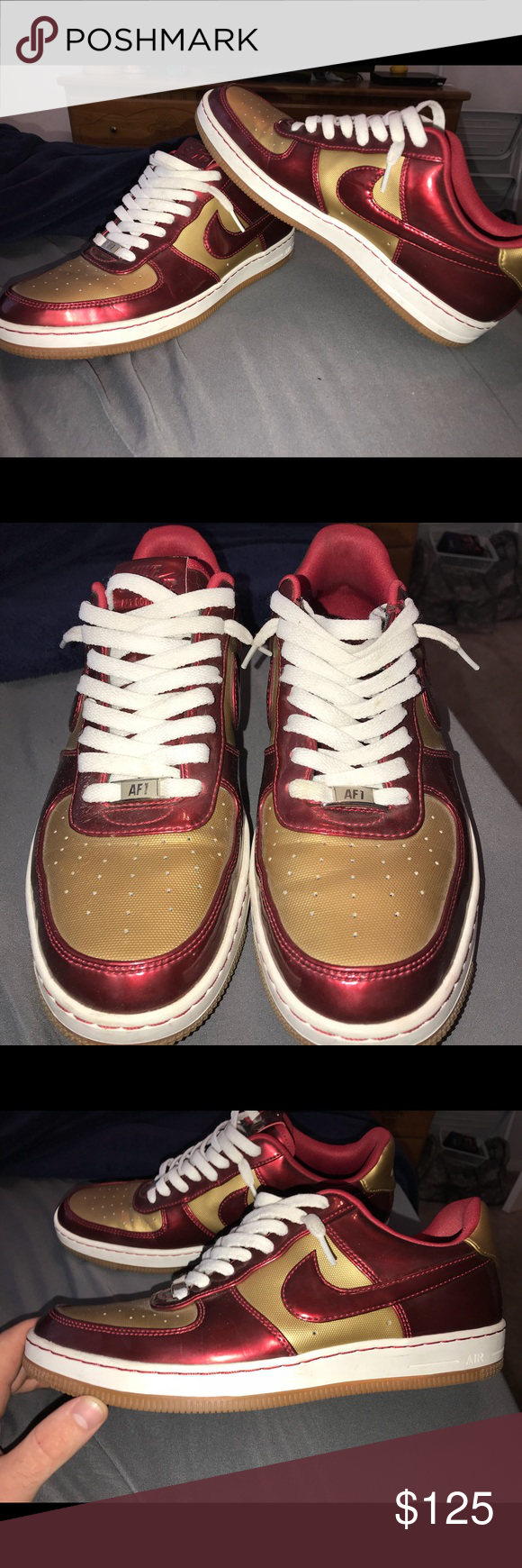 0f0e60a8f0 Nike Air Force 1 lows iron man edition Brand new, worn twice, don't wear  them have had them for 3 years. Size 10.5 Nike Shoes Sneakers