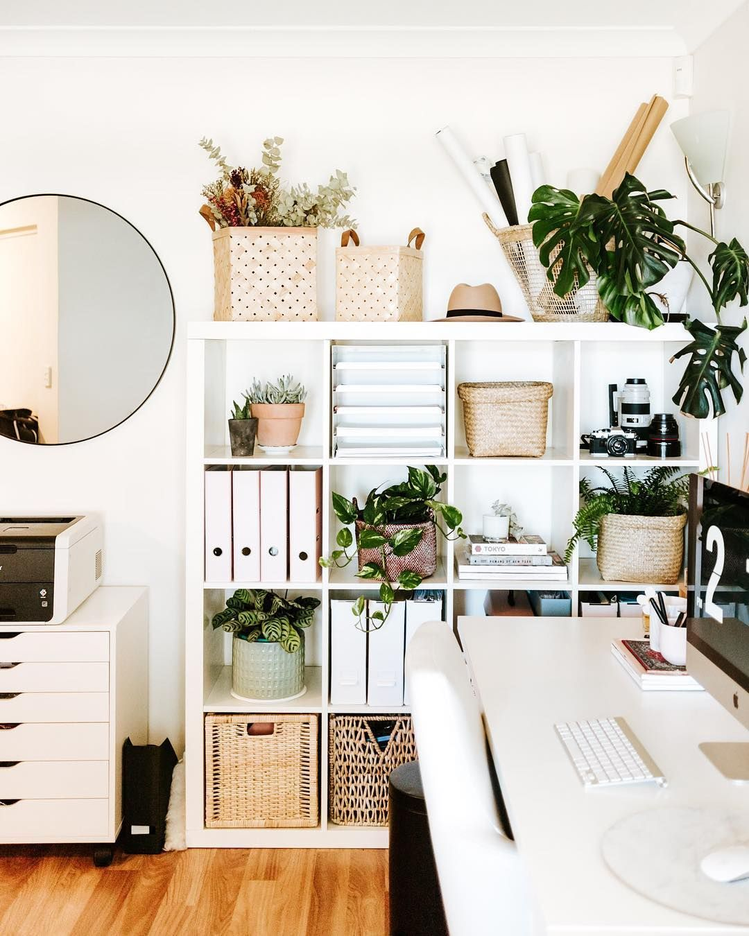 Home Officeinterior Design Ideas: Originally Wanted To Replace This Ikea Cube Shelf With A