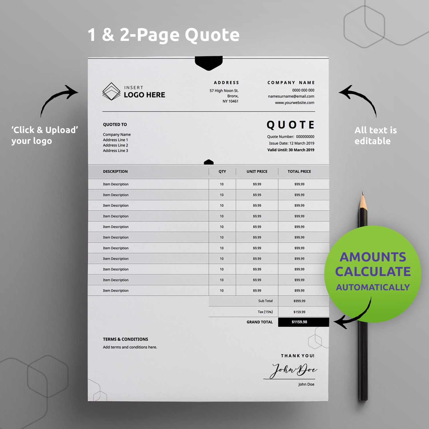 Custom Order Form Template 8 5x11 Letter A4 Printable Simple Etsy Invoice Template Order Form Template Printable Invoice