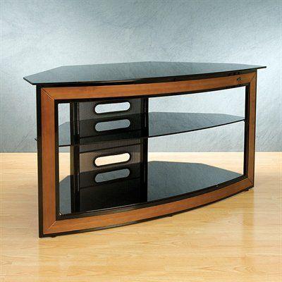 Bell O Tv Stand 3 Shelf Corner Unit Black Glass High Quality Tv