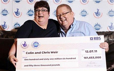 Chris Weir i Colin Weir wygrali €185.000.000 w Euromillions 12 lipca 2011