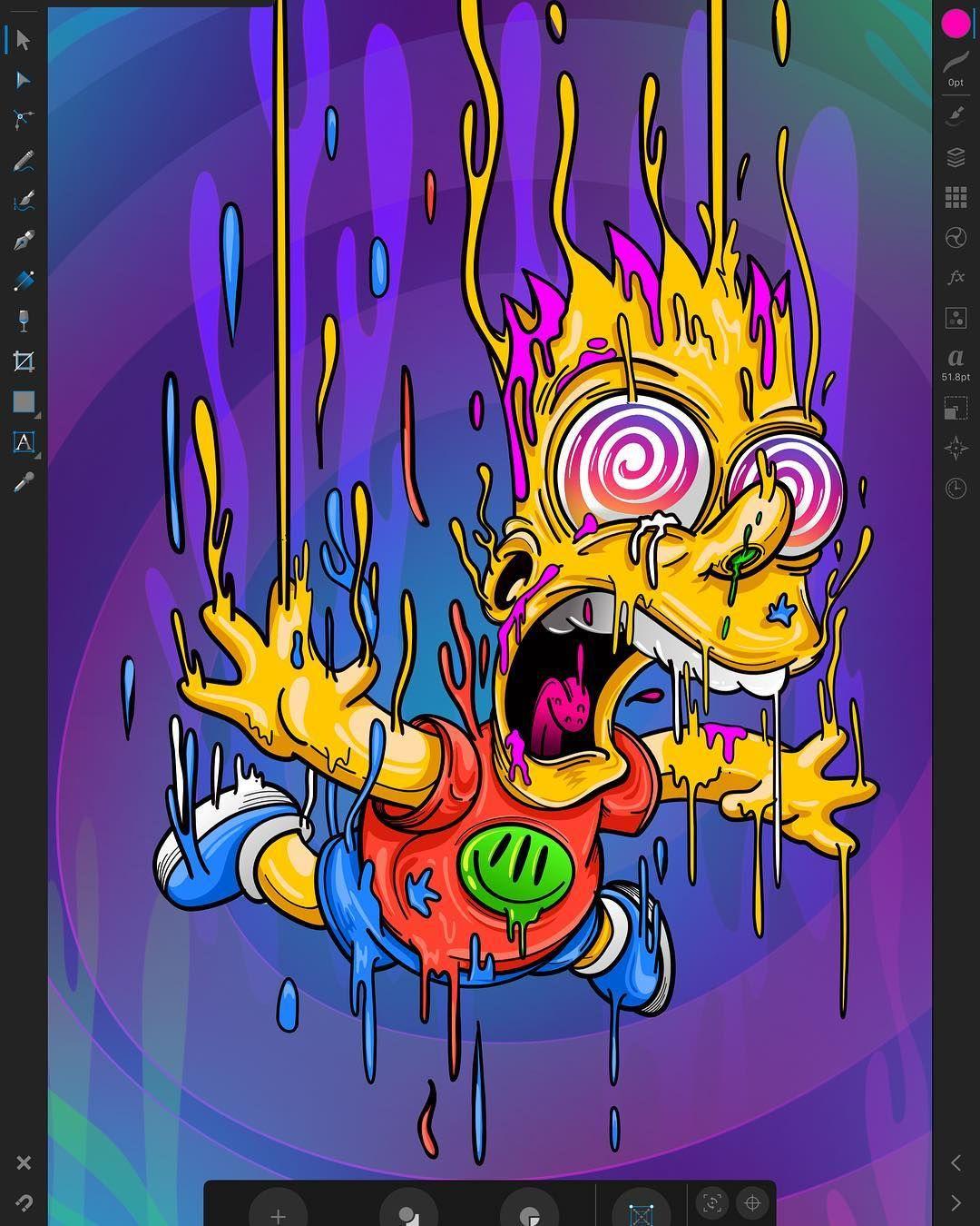 No Hay Ninguna Descripcion De La Foto Disponible Simpsons Art Graffiti Wallpaper Simpsons Drawings