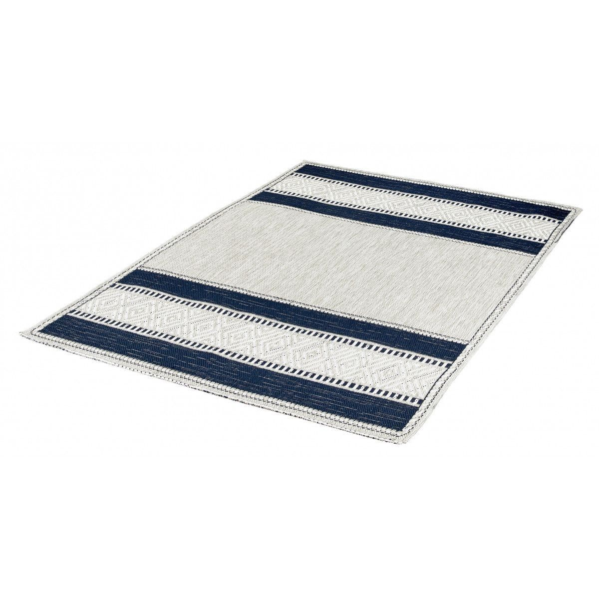 Tapis Reversible Bleu Marine Plat Moderne Euphorise Taille 080x150 Cm 120x170 Cm 160x230 Cm Tapis Tapis Salon