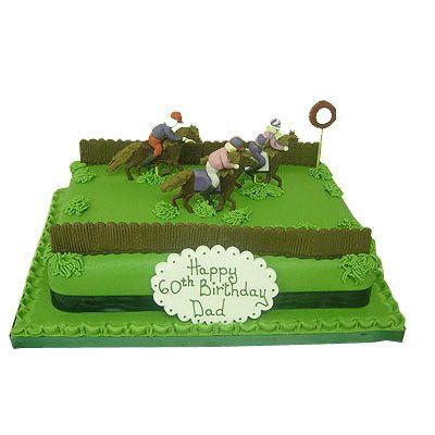 horse cakes Cake Birthday Cakes for Men Horse Racing Cake