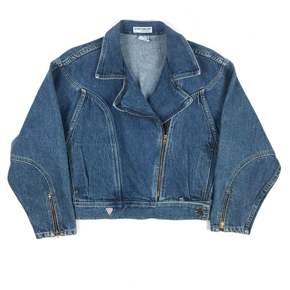 Vintage Georges Marciano For Guess Size Large Denim Jean Jacket W Zipper Details Guess Jeanjackets Casual Jean Jacket Denim Denim Jeans [ 1000 x 1000 Pixel ]