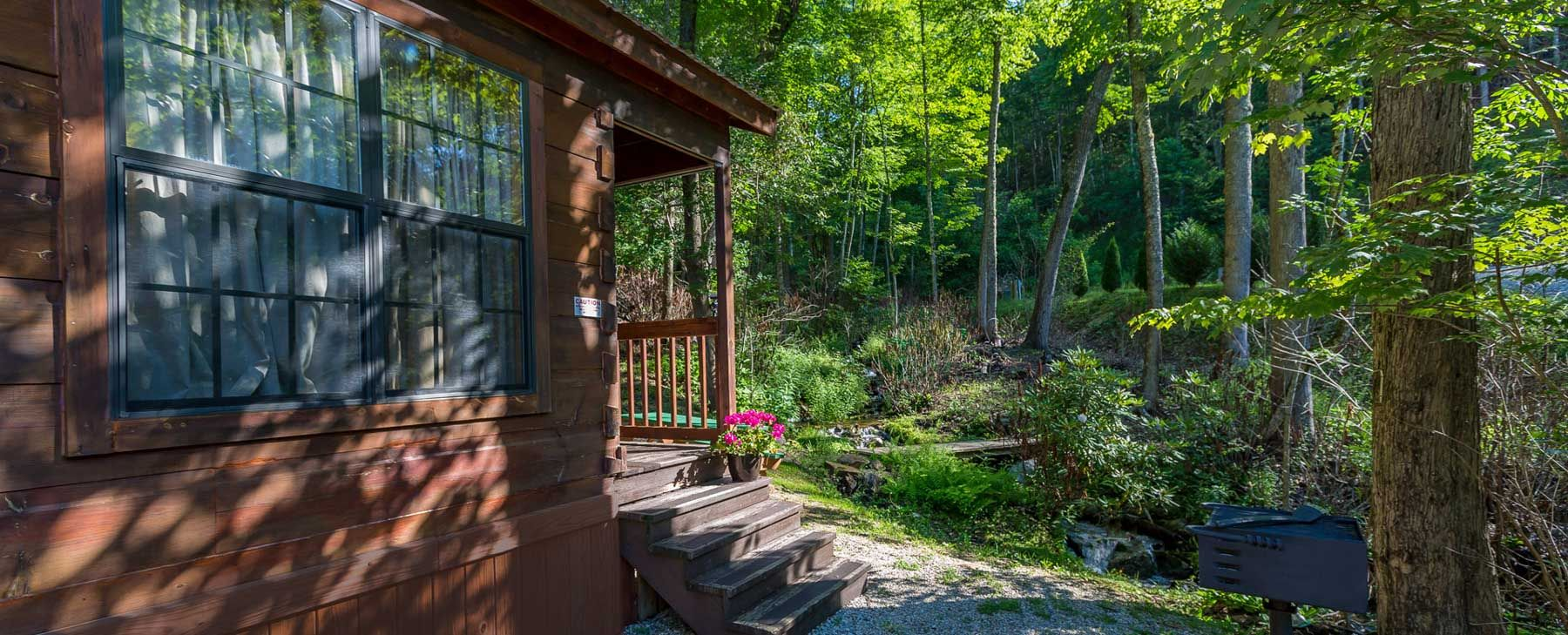Enjoy a luxury camping destination at chelokee cove cabins