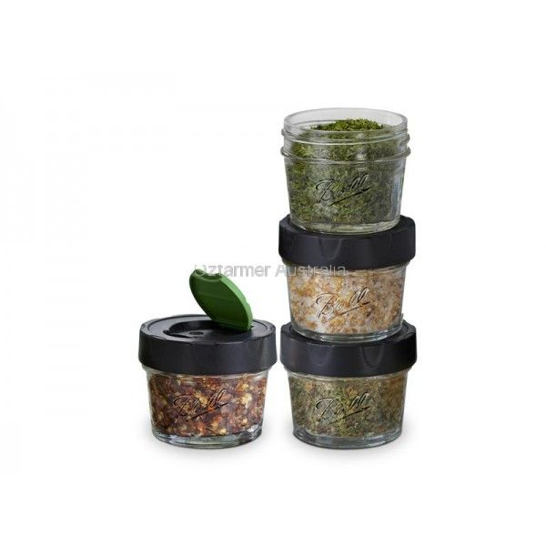 NEW Ball Mason USA 4oz Dry Herb Spice Storage Jars pack of 4