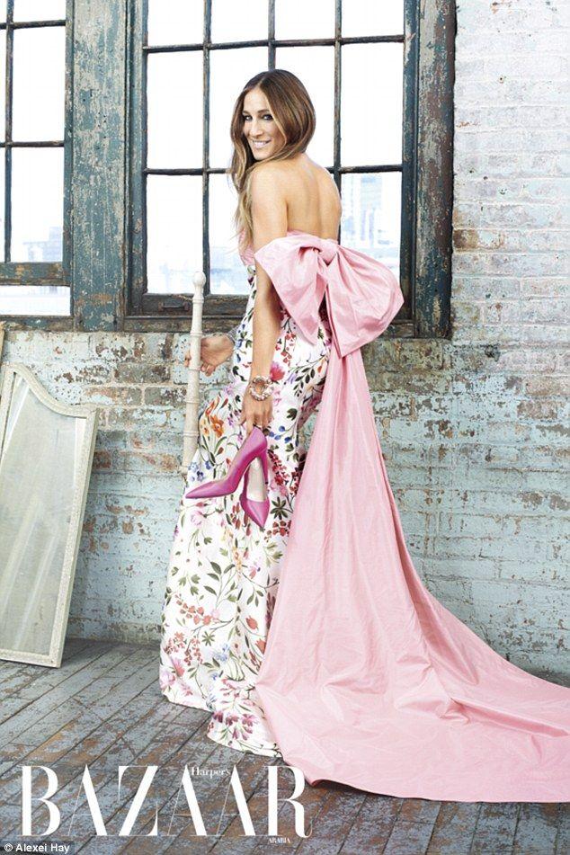 Sarah Jessica Parker SJP in Oscar de la Renta for Harper's Bazaar #style #fashion #shoes