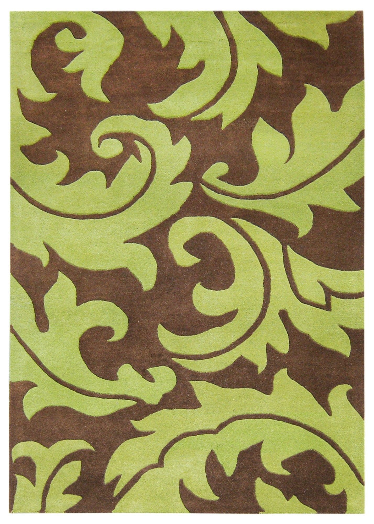 Hand Tufted Wool Green Area Rug Green Brown Area Rugs Rugs