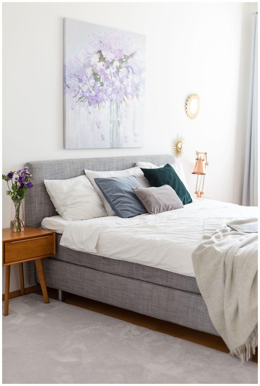 Schlafzimmerinspiration in Flieder und Grau I Zimmer