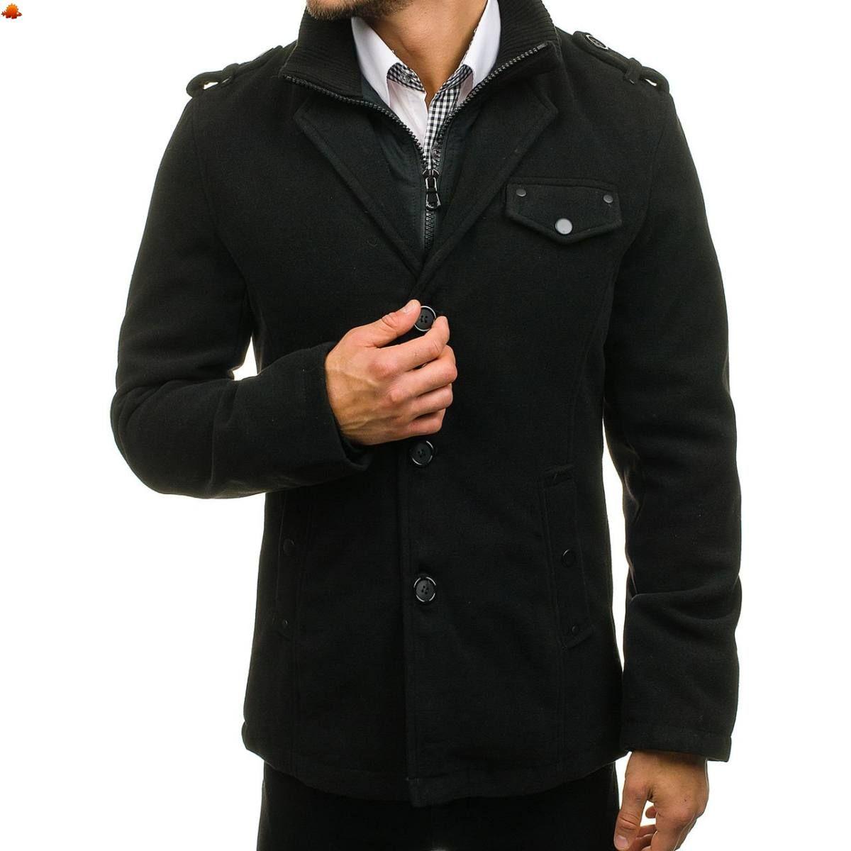 Elegáns Férfi kabát  8853A - fekete - ❄️Téli ajánlatok❄  a9f4331341