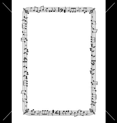 musical graphic frame vector 778762 by springnymph on vectorstock - Music Picture Frame