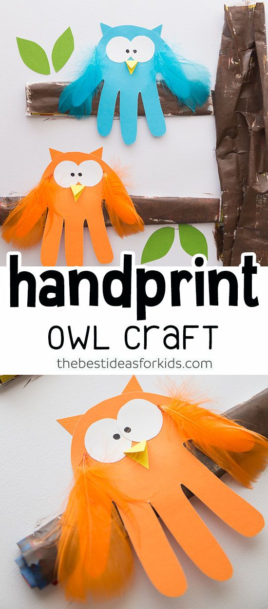 Owl Handprint #fall