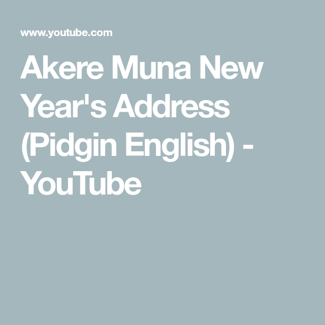 Akere muna new years address pidgin english youtube ambazonia barrister akere muna delivers his new years address to the cameroonian people on january in pidgin english publicscrutiny Images