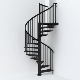 Best Arke Sky030 63 In X 10 Ft Black Spiral Staircase Kit 400 x 300