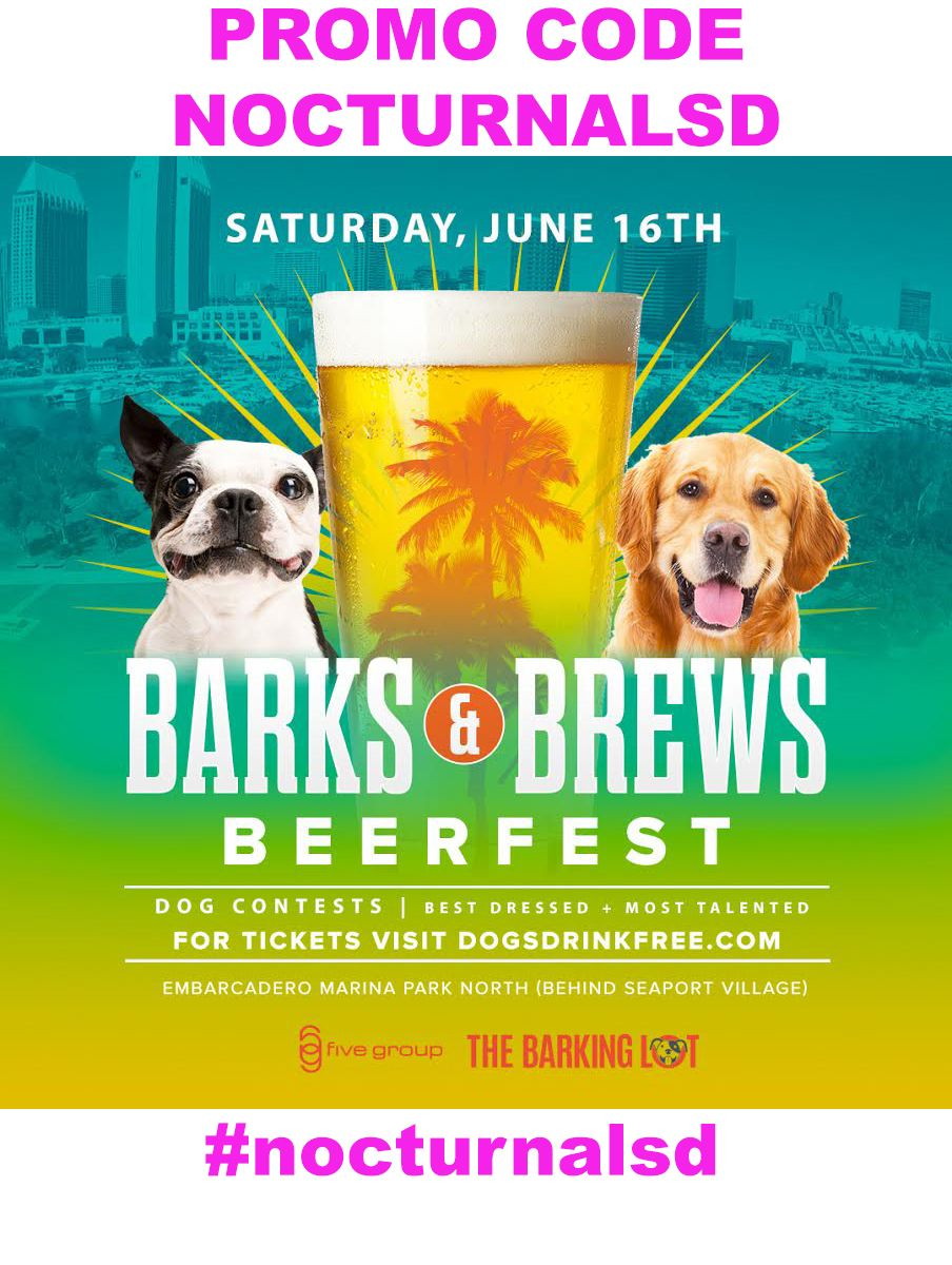 Barks And Brews Beerfest Discount Promo Code Dog Friendly San Diego Looking For Dog Friendly Places To Go In San Diego Dog Friends Dog Business Dog Contest