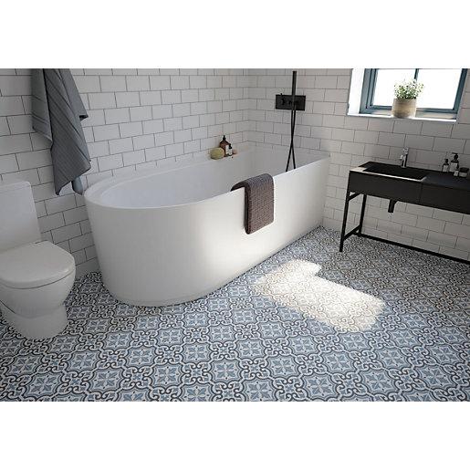 Wickes Co Uk In 2020 Patterned Bathroom Tiles Shower Floor Tile Wickes Bathroom Tiles