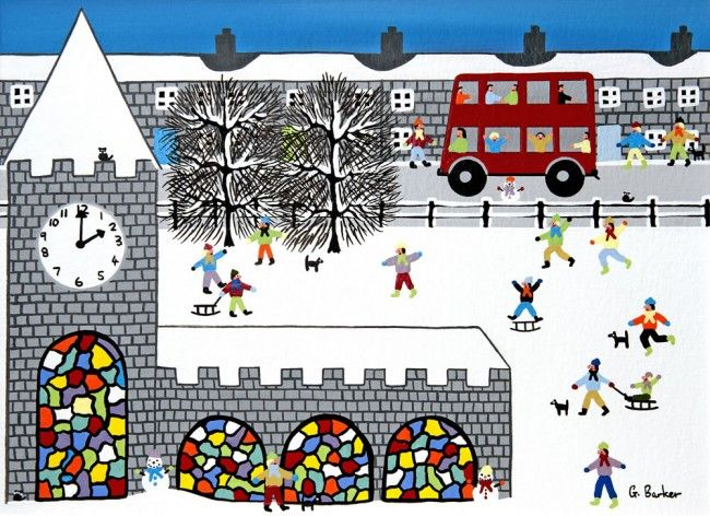 Christmas Cards by Gordon Barker. Arty Christmas greeting cards published by Art Cove Cards UK