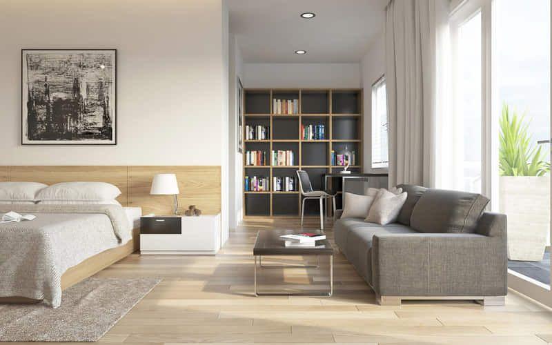Vstavaný nábytok poskytne priestoru dostatok úložných priestorov.
