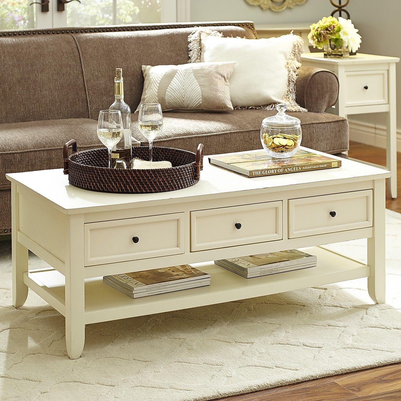 Ashington coffee table antique white pier 1 imports