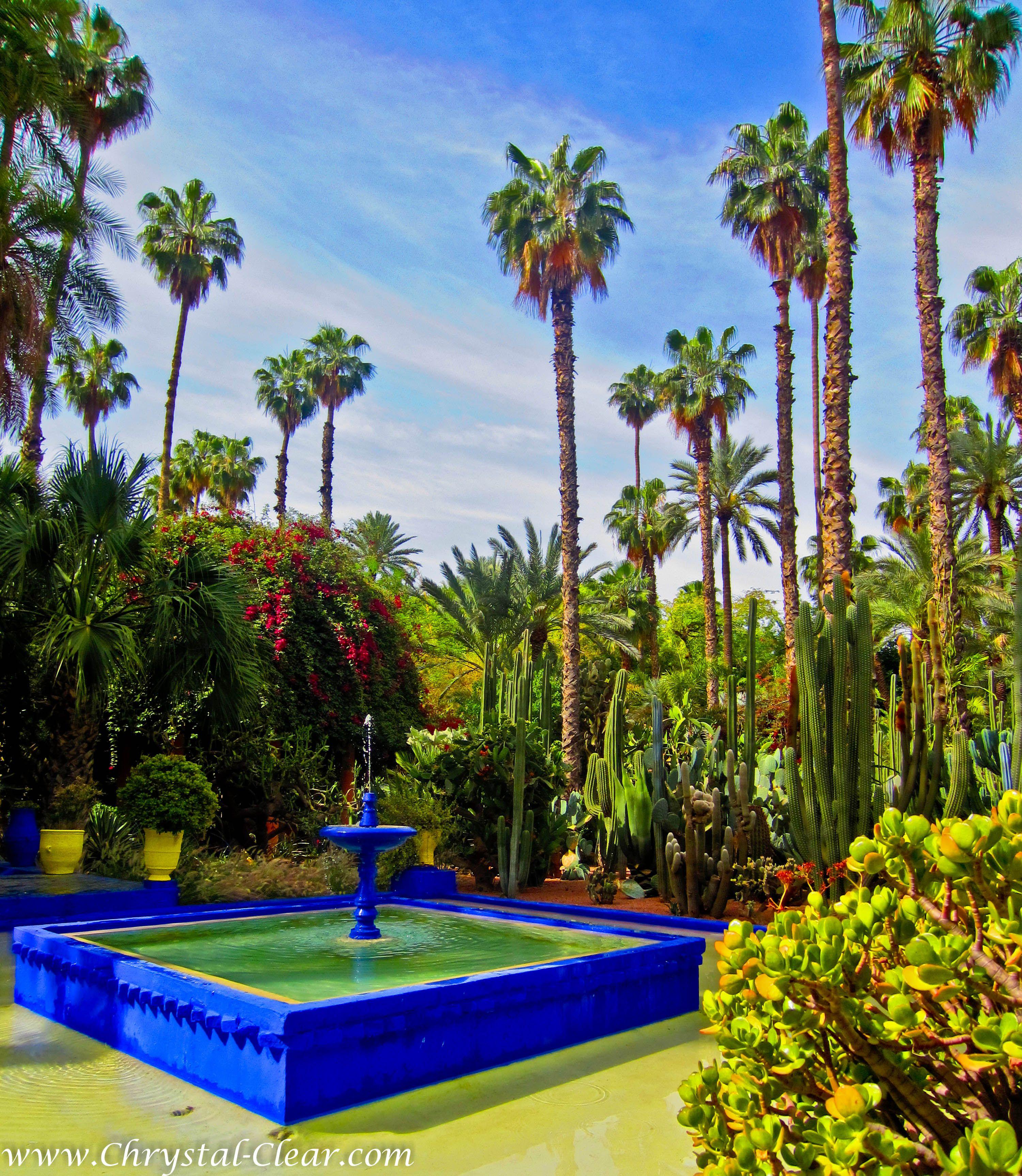 Jardin Yves Saint Laurent Marrakech: Fountain, Jardin Majorelle, Marrakech, Morocco