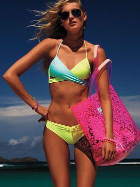 e371432cb98a Body Wrap Swim Top - PINK - Victoria's Secret (bestseller ...