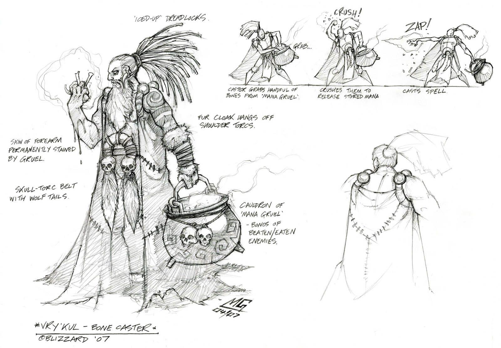 Vrykul caster Creature concept art, Concept art world, Art