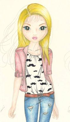 Pingl par laeti klj sur coloriage top model dessin personnage top mod les et dessin - Modele dessin personnage ...
