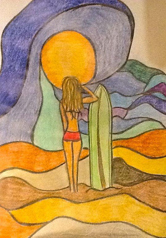 by Sandra Moncusi #surf #surfing #artsurf #waves