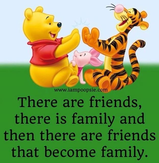 friends and family quote via iampoopsie com winnie the pooh