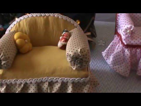Artesanato Mini Sofa Com Caixa De Leite E Papelao Youtube
