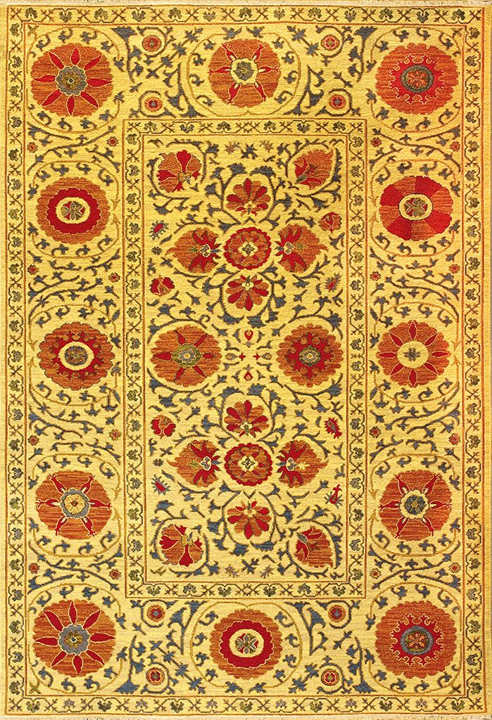 Uzbek Suzani Gold Red Design 2 Traditional And Yellow Rugs Techieblogie Info Rug Area Ideas
