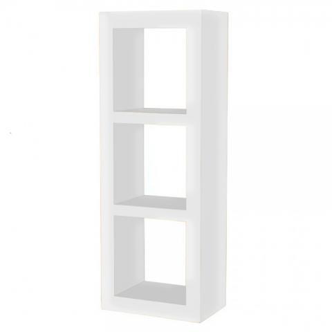 White Cube Storage Shelf Cubic Modern Painted