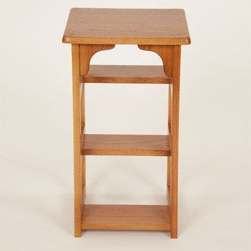 Finished Oak Step Stool And Chair