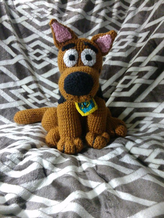 Crochet Scooby inspired dog by EEKsCreations on Etsy