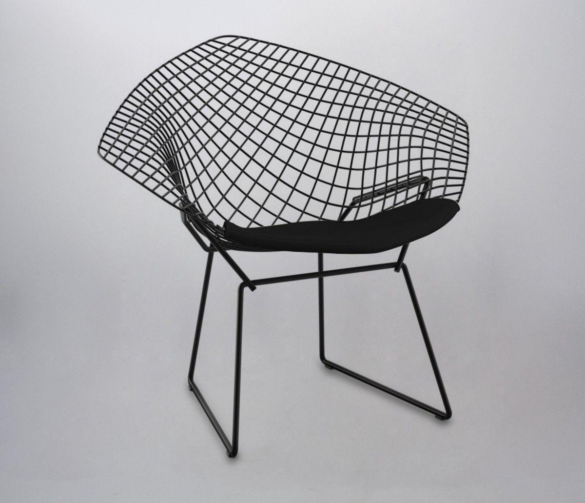 Silla Replica Bertoia Diamond - Negra - Sillas - Sentarse - Muebles ...