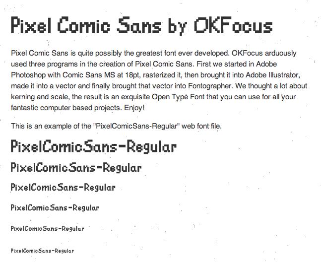 OKFocus Pixel Comic Sans