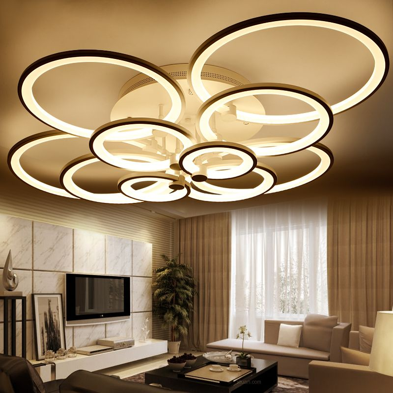 Modern Led Ceiling Lights For Living Room Luminarias Home