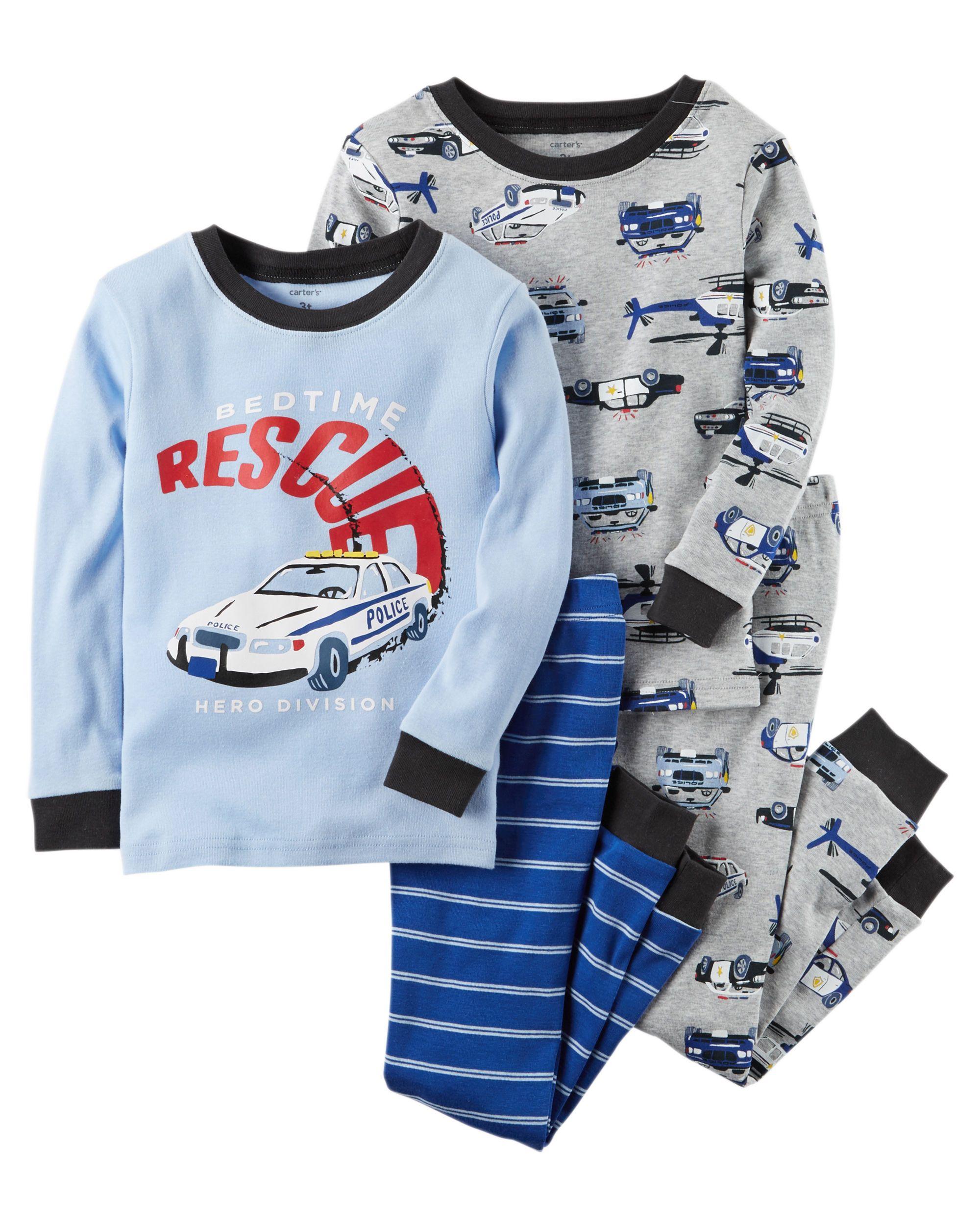 d70ae7567f12 4-Piece Rescue Snug Fit Cotton PJs